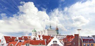 Miasto Szczecin widok z nabrzeża