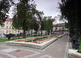 Nisko - park przy Placu Wolności